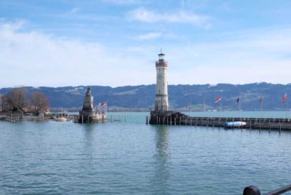 Arriving to Lindau island