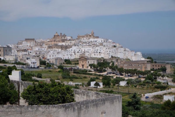 Ostuni where I stayed with a female Warm Showers. Yes women cyclists!