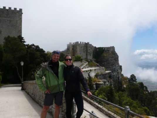 Virgile and I in Erice