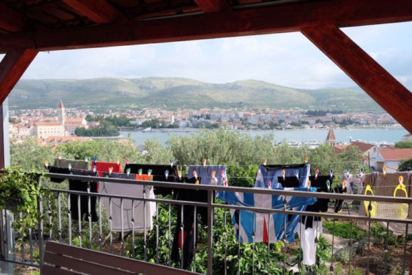 Accommodation on the first night overlooking Trogir, Croatia