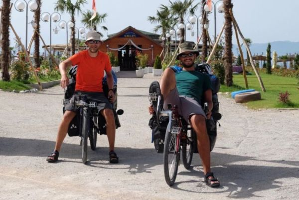 Two Swiss cyclists heading overland to Japan