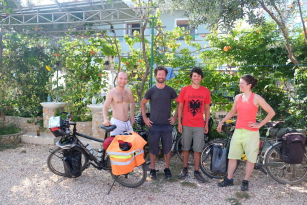 Tomasz, Nicholas, Tycho and me, after spending a few days camping on a roof together