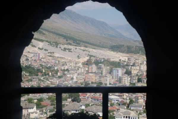 View from the castle over Gjirokaster, my last town in Albania before heading over the border to Greece