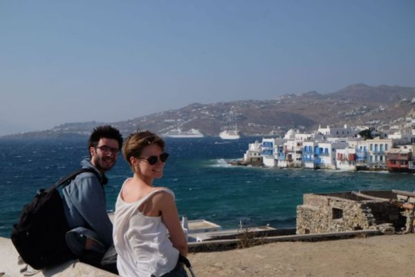 I started off the Cretan visit by spending a week with Paddy and Julia having a brief beach holiday before jumping on a boat across the Aegean sea to visit several Cycladic islands, finishing in Syros for the International Film Festival