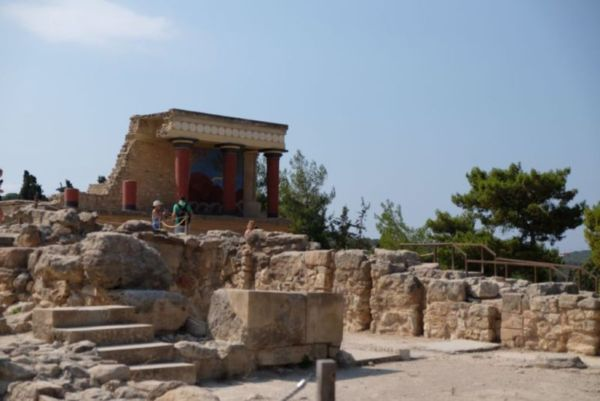 This is Knossos, the semi-reconstructed Minoan Palace...