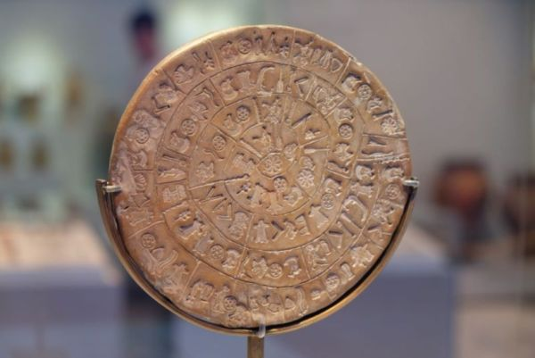 ... and this was one of my favourite artefacts in the archaeological museum in Heraklion. I like it because it is some of the earliest evidence of scripture, but we have not yet deciphered or interpreted the symbols. Look closely, follow the spiral around trying to describe each symbol. It is so fascinating.