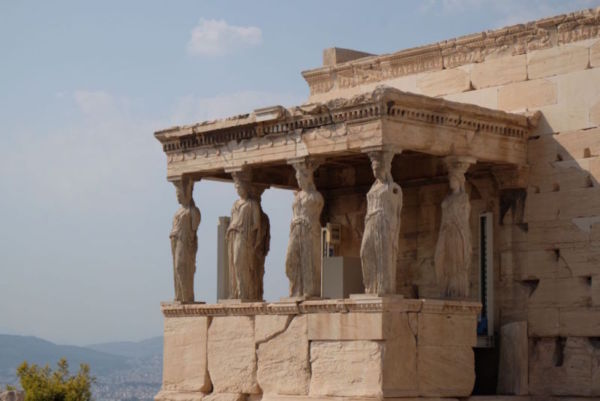 The Erechtheion on the Acropolis. Ashley did not have enough cash to enter so Jeremy and I made a multimedia guide (photos and voice recordings). I think Ashley learnt very little about the Acropolis...