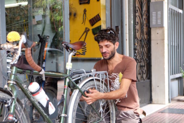 Steve, my very excellent bike mechanic in Athens
