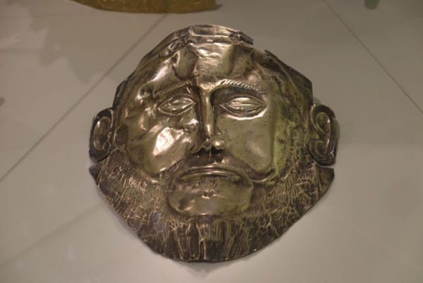 Potentially the mask that was on the face of the potentially mythical Agamemnon