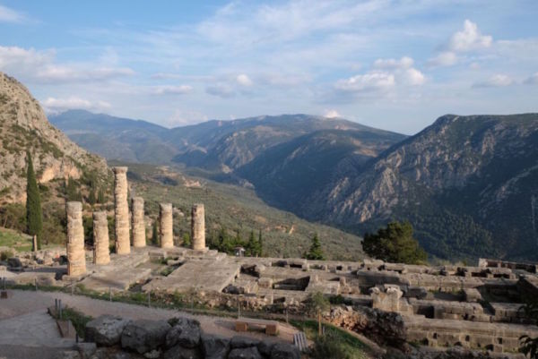Delphi is the archeological sight that was considered the centre of the Ancient Greek world.