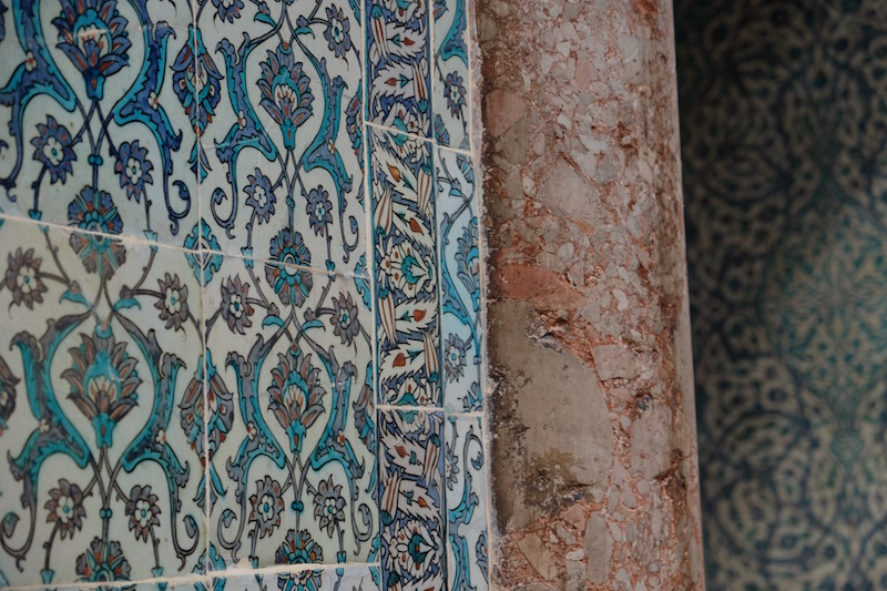 Many of the buildings of Istanbul are adorned with ornate and colourful Iznik tiles, making public and private spaces bright and inspiring places to be