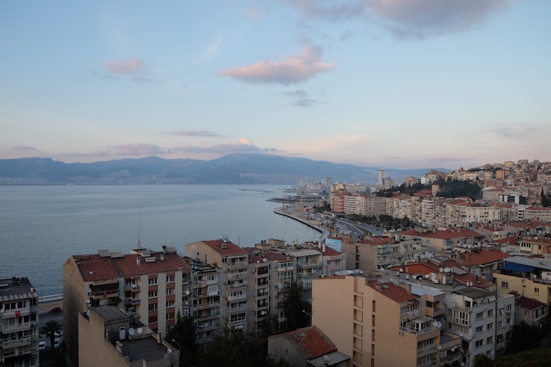 Izmir from the top of the city's lift (asansör)