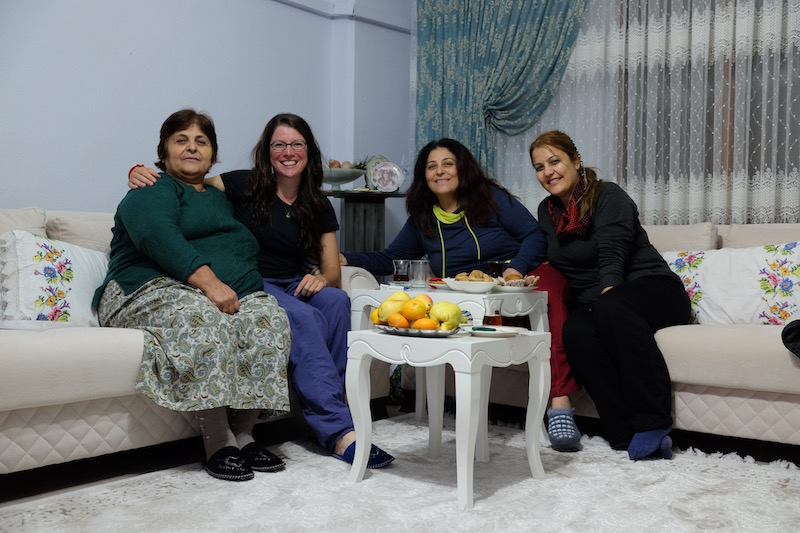 Another wonderful host family in Nazilli. Here I learnt the important Turkish word 'doydum' = 'I'm full'. Very useful when faced with generous Turkish mother's who hold your wrists between two fingers, tut, shake their heads and fill up your plate again.
