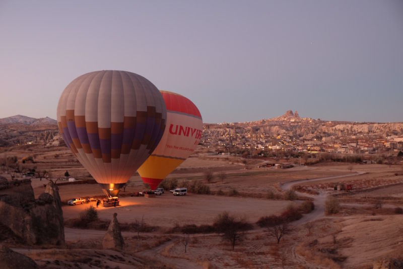Christoph, Katharina and I woke early one morning in Göreme to watch the hot air balloons rise over the valley.
